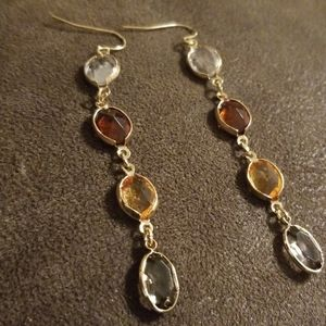 Gorgeous mix of gold and glass stone Earrings